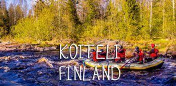 Whitewater rafting in Koiteli, Finland