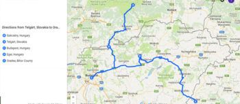 Map of road trip from Slovakia to Romania via Hungary | FinnsAway