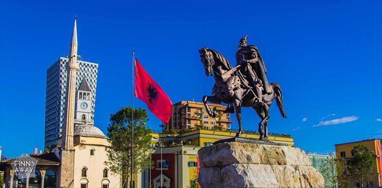 Tirana, the capital of Albania
