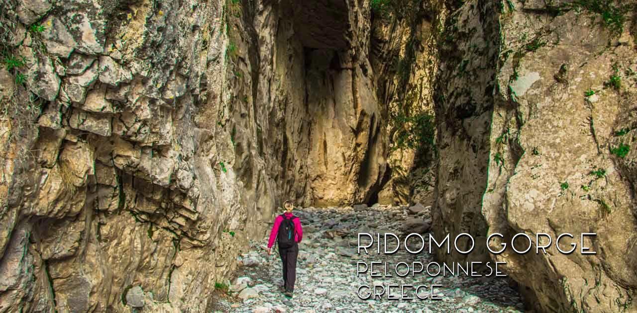 Greece: Hiking in Ridomo Gorge, Peloponnese