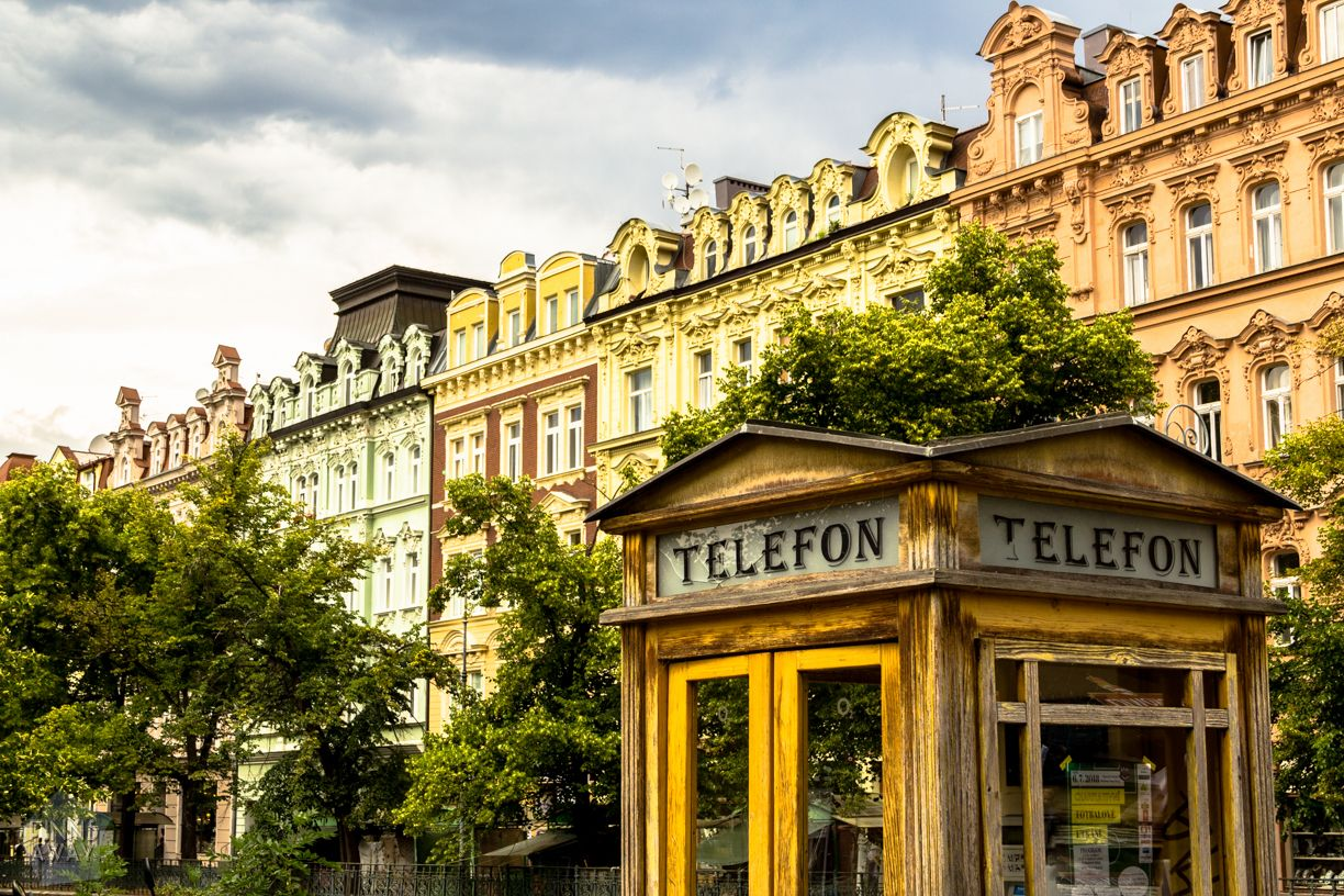 Karlovy Vary with its beautiful, Art Nouveau architecture, is a charming destination for a short visit from Prague.