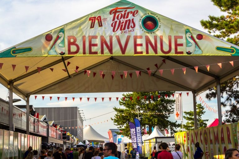 Foire aux Vin's d'Alsace wine festival in Colmar is a hugely popular yearly expo and concert event