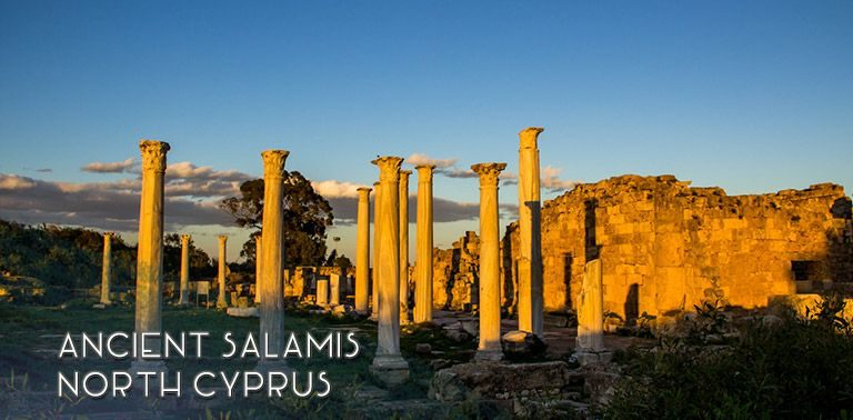 Salamis archaeological site, ruins of an ancient city-state, is a wonderful sight near the walled city of Famagusta in North Cyprus. | FinnsAway Travel Blog