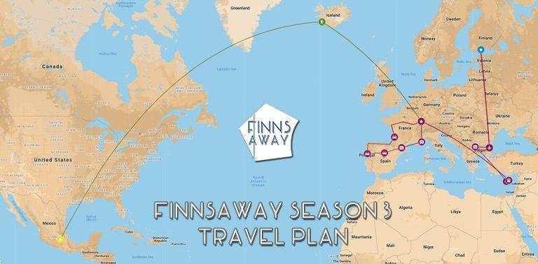 Travel plan for season 3   FinnsAway nomad travelers