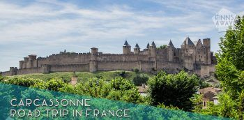 Citadel of Carcassonne is a huge medieval city fortification with double walls and 52 towers. Short history and tips for planning your visit. | FinnsAway Travel Blog
