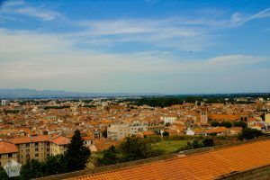 Historical, medieval city of Perpignan in French Catalonia, pictured from the Palace of the Kings of Majorca | FinnsAway Travel Blog
