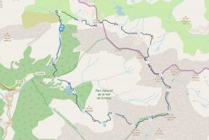 Gps route map of three peaks hike | Hiking in Sorteny Valley Nature Park, Andorra | FinnsAway nomad travels