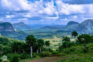Hiking in Cuba, a valley surrounded with limestone mountains near Vinales | FinnsAway nomad travels