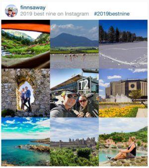 Yearly summary | best nine in Instagram | FinnsAway travel blogi