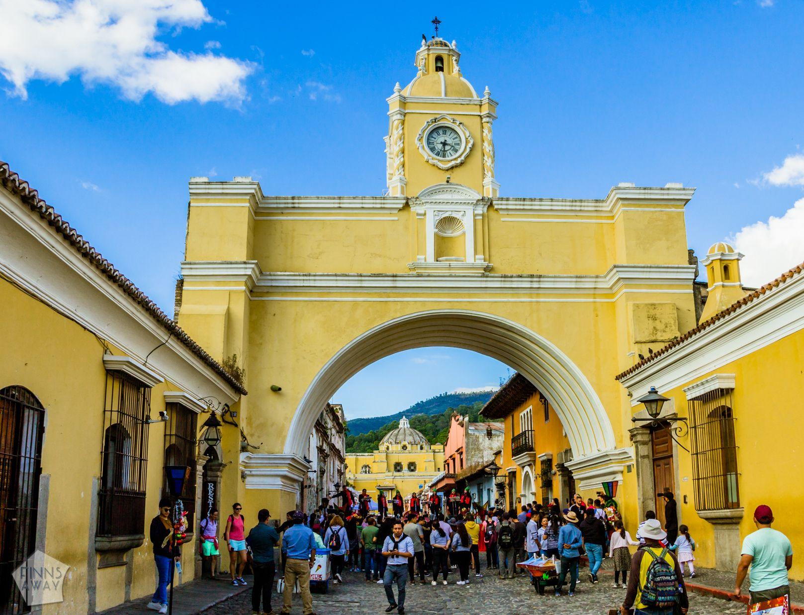 Santa Catalina Arch   Introduction to historical Antigua Guatemala   FinnsAway Travel Blog