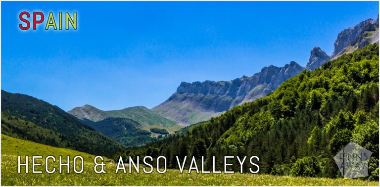Remote, beautiful Anso and Hecho Valleys