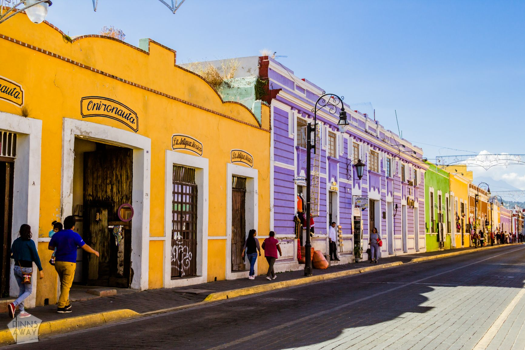 On the colorful streets of Cholula | Mexico: Colonial city of Puebla and neighboring Cholula | FinnsAway Travel Blog