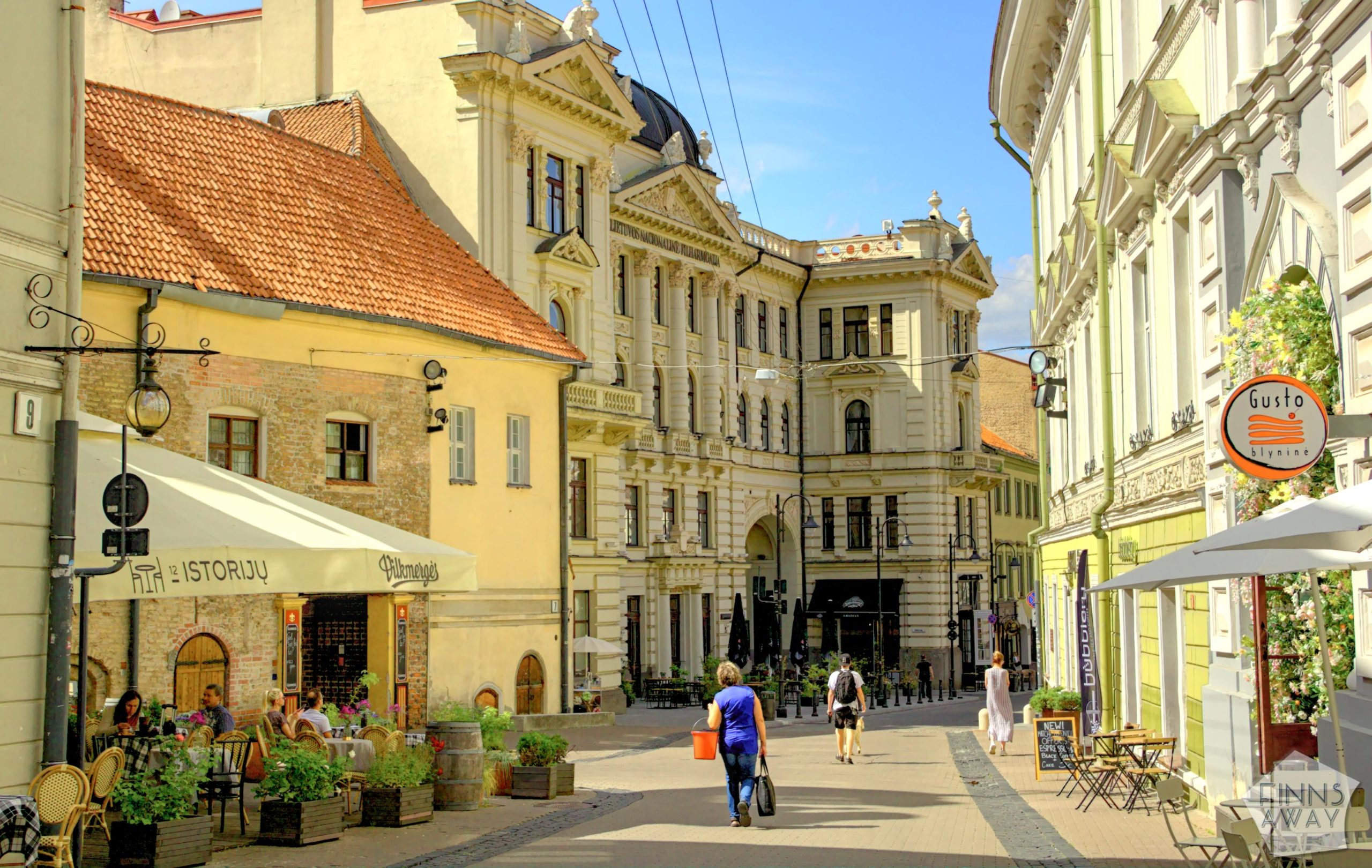 On the streets of the Old Town of Vilnius, Lithuania | FinnsAway Travel Blog