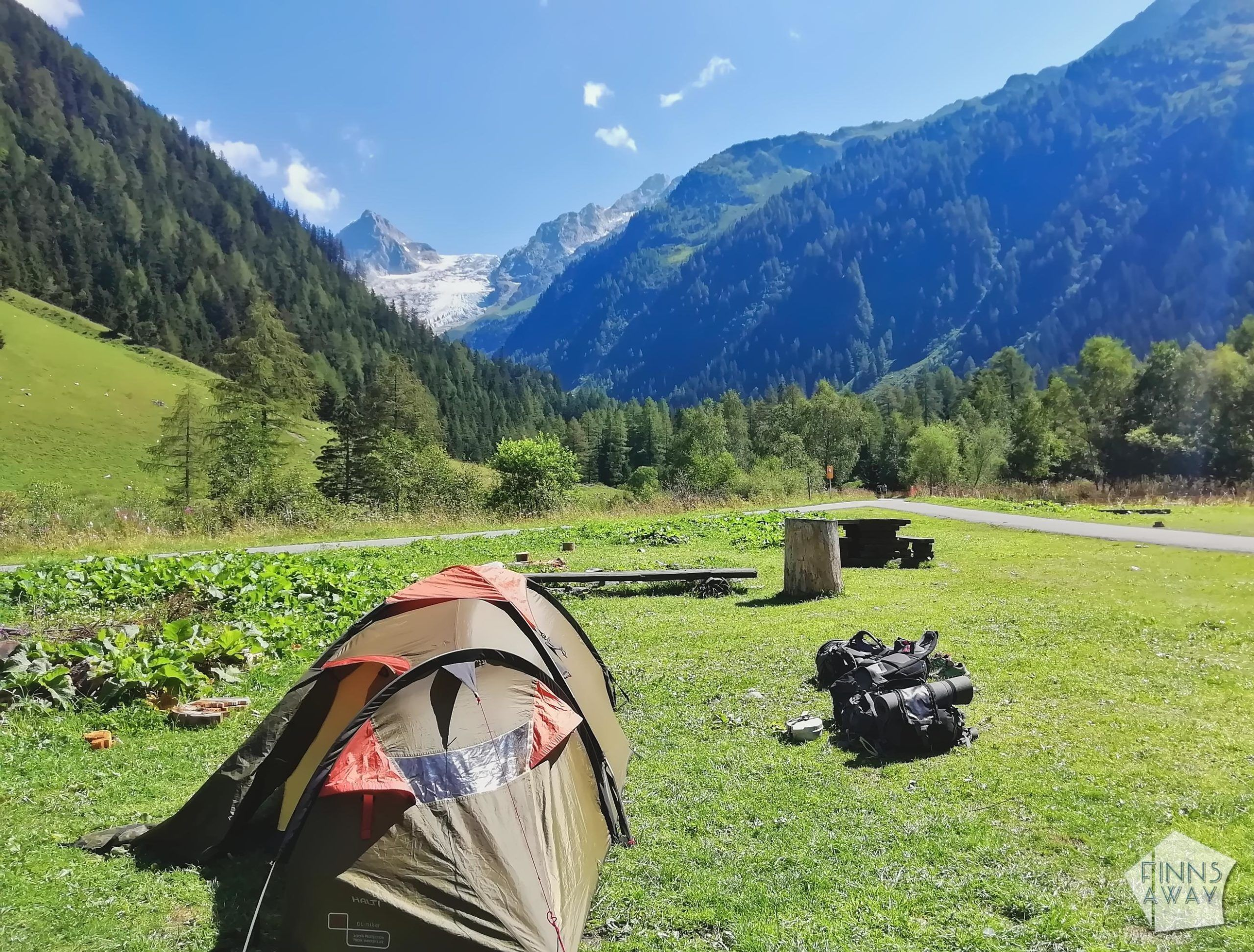 Camping Le Peuty | Hiking and camping Tour du Mont Blanc mountain trail in the Alps | FinnsAway travel blog