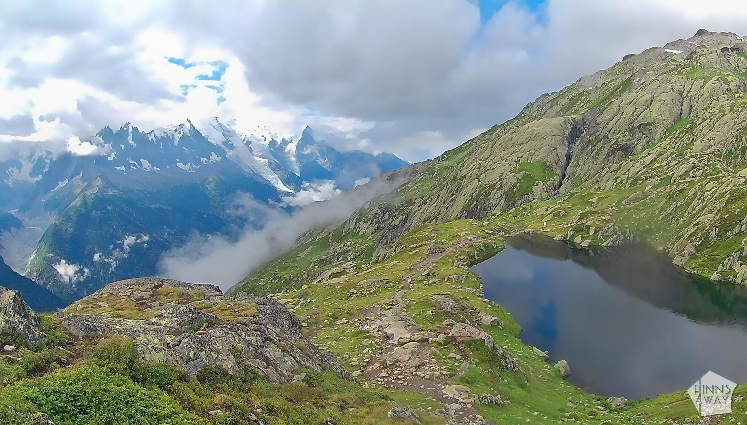 Lacs de Cheserys | Hiking and camping Tour du Mont Blanc mountain trail in the Alps | FinnsAway travel blog