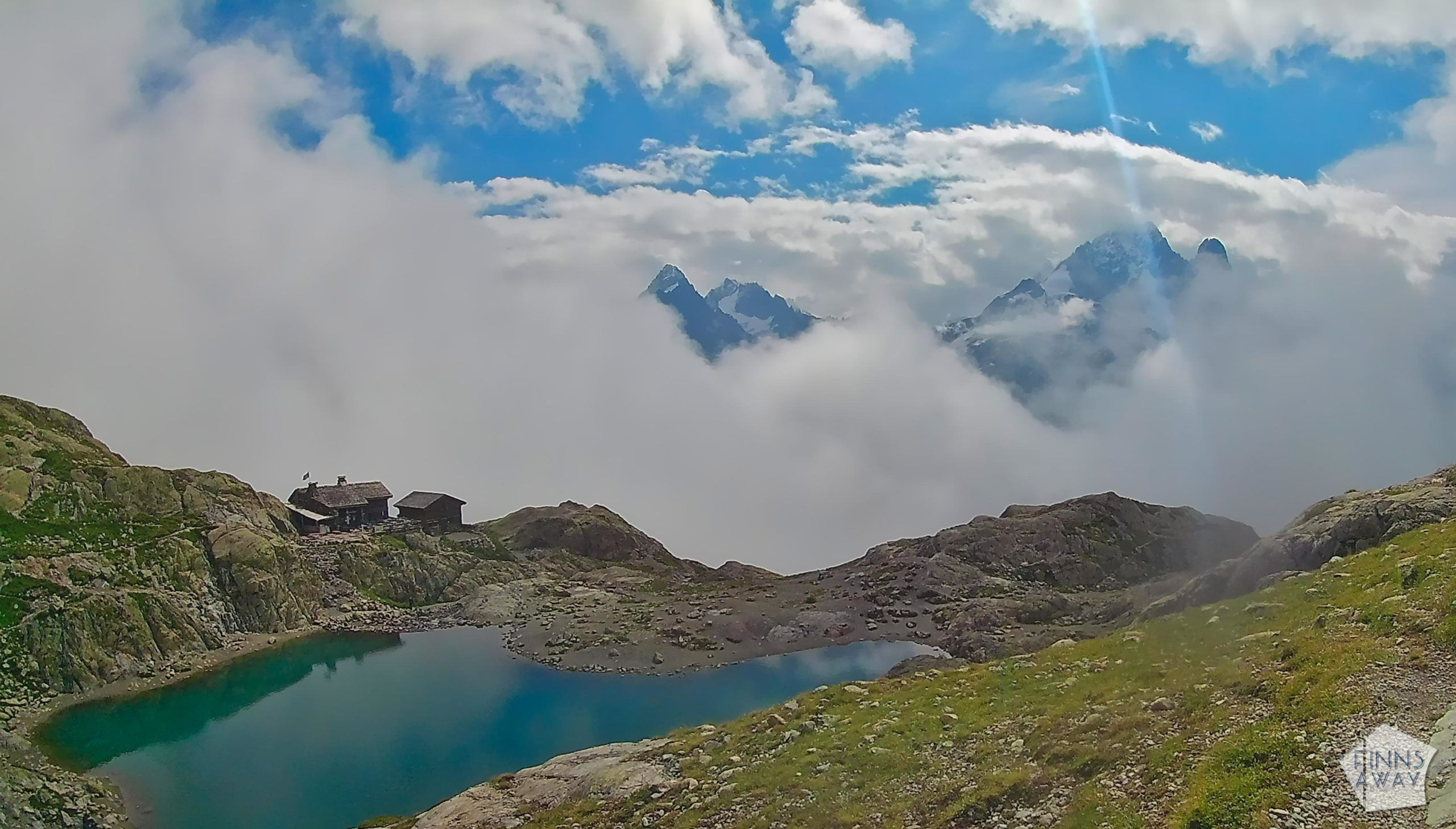 Lac Blanc | Hiking and camping Tour du Mont Blanc mountain trail in the Alps | FinnsAway travel blog