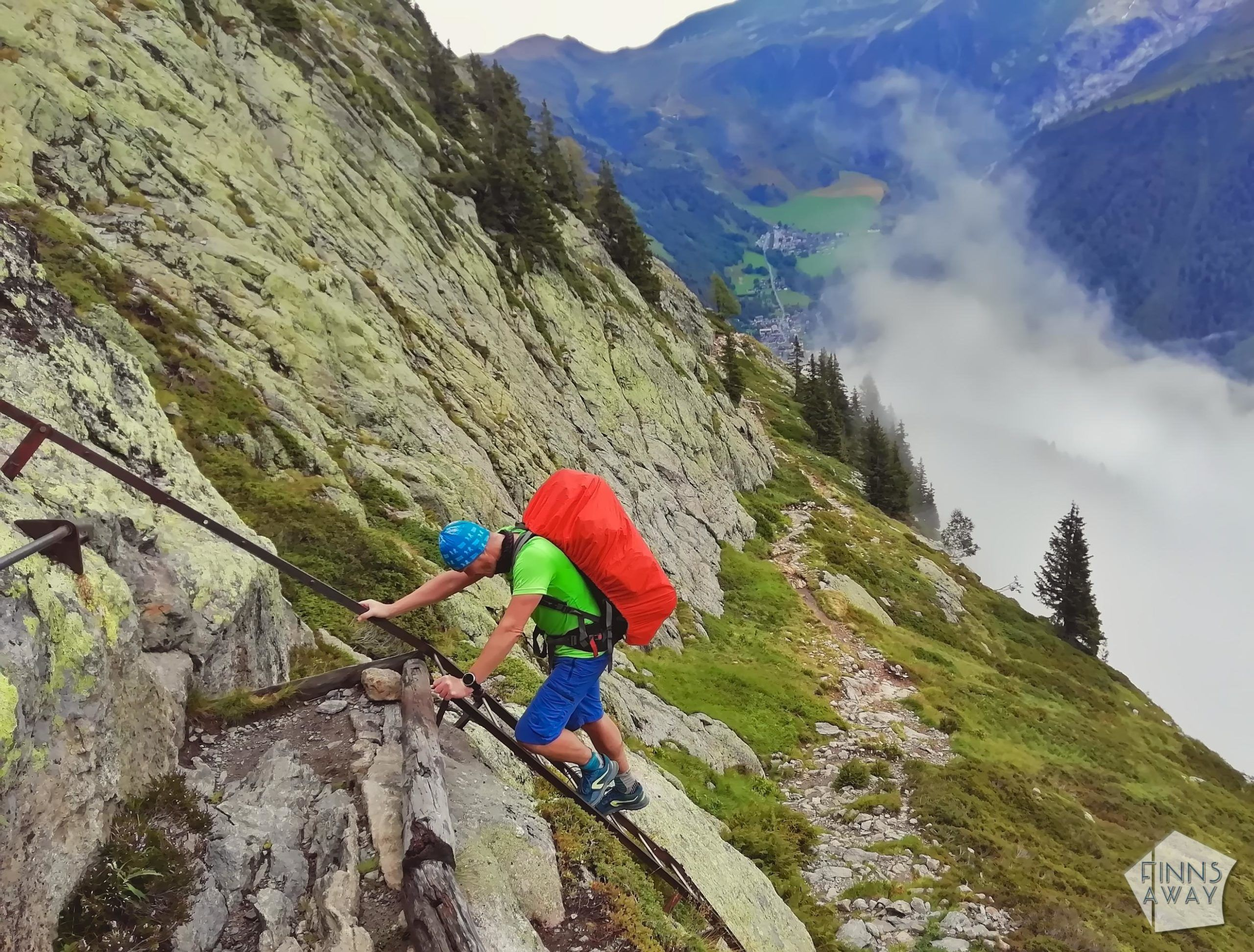 TMB ledders | Hiking and camping Tour du Mont Blanc mountain trail in the Alps | FinnsAway travel blog