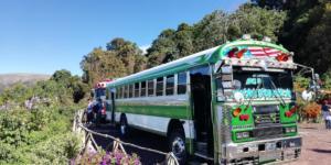 Local bus in Cerro Verde | Hiking Santa Ana Volcano in El Salvador | FinnsAway Travel Blog
