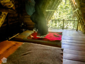 Bungalow beds in Casa Perico | Travel guide to Rio Dulce and Livingston in the Caribbean side of Guatemala | FinnsAway Travel Blog