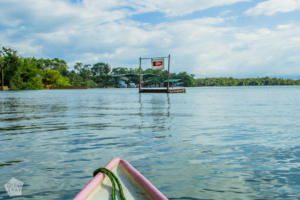 Casa Perico swimming platform | Travel guide to Rio Dulce and Livingston in the Caribbean side of Guatemala | FinnsAway Travel Blog