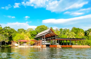 Yacht shelter by Rio Dulce | Travel guide to Rio Dulce and Livingston in the Caribbean side of Guatemala | FinnsAway Travel Blog
