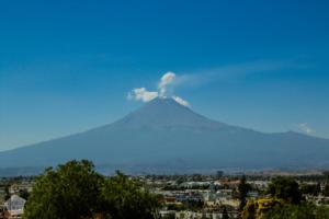 Popocatépetl volcano seen from Cholula | Mexico | FinnsAway Travel Blog
