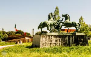 Horse statue near NOVA University, Lisbon