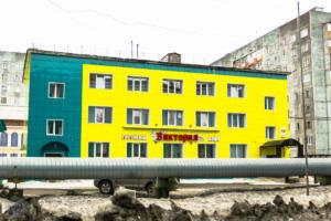 Colorful houses of Dudinka