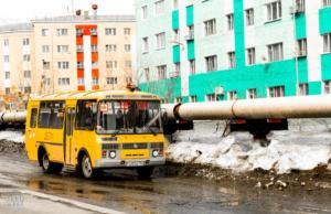 School bus in Norilsk